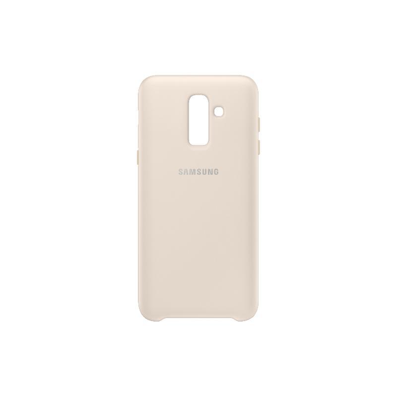 SAMSUNG Galaxy J8薄型透明背蓋-PC及TPU混和 金