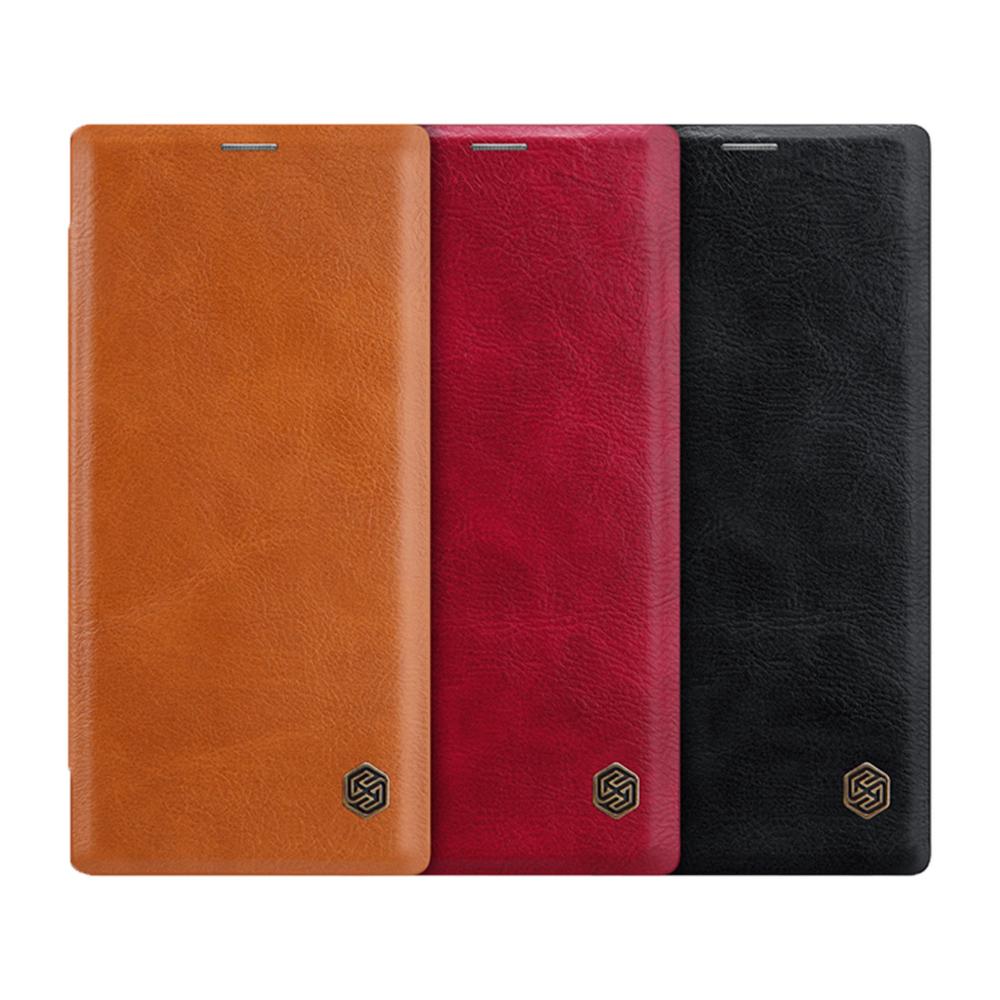 NILLKIN SAMSUNG Note 10+ 秦系列皮套(棕色)