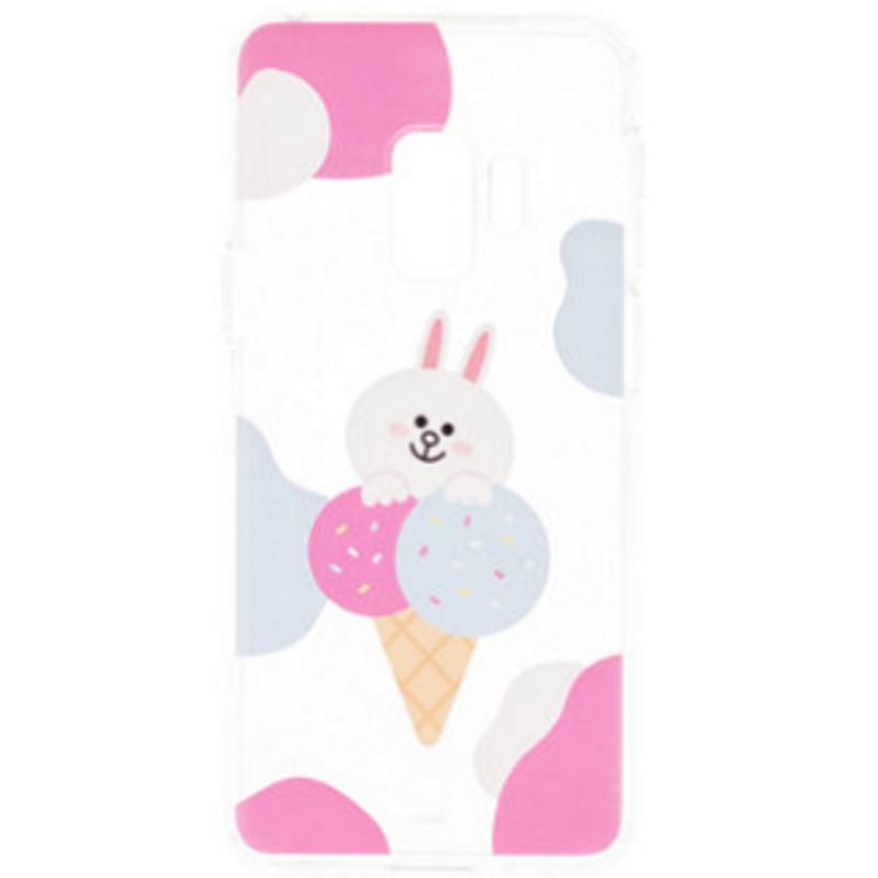 SAMSUNG Galaxy S9 LINE Cony兔 FRIENDS 冰淇淋背蓋