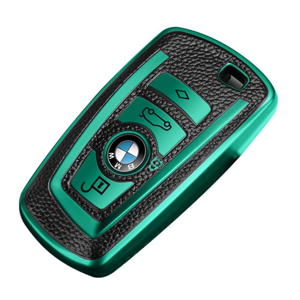 QinD BMW 寶馬車鑰匙保護套(祖母綠)
