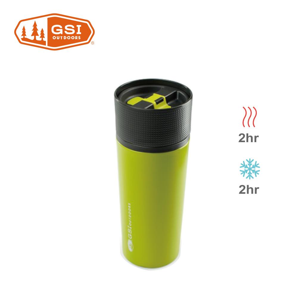 【美國GSI】 Glacier Stainless Commuter Mug不鏽鋼咖啡杯-綠色