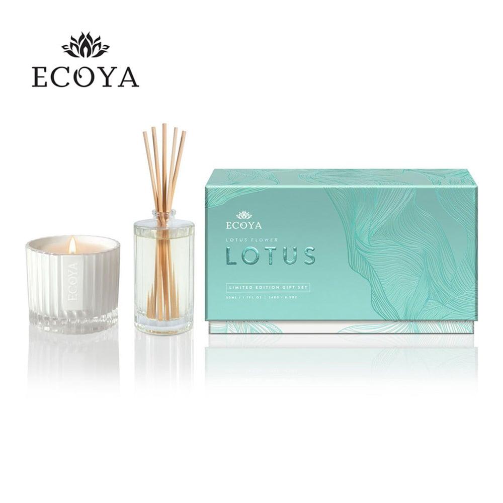 澳洲ECOYA 高雅蓮香精裝禮盒 (香氛蠟燭240g+迷你薰香瓶50ml)