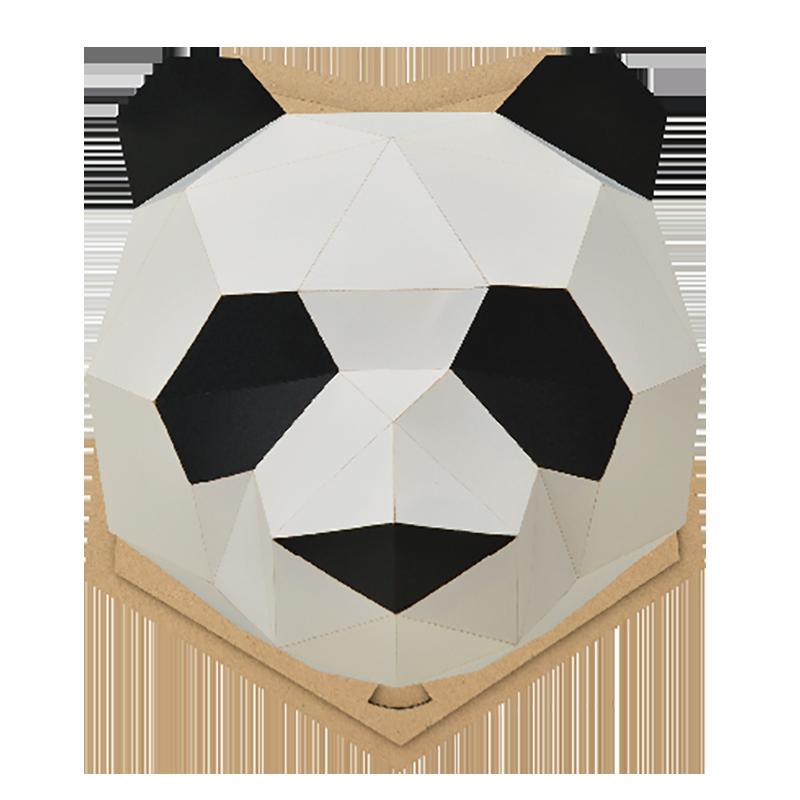 bog craft 立體動物紙藝 PANDA-貓熊/L 大型壁掛(含底版) WALL