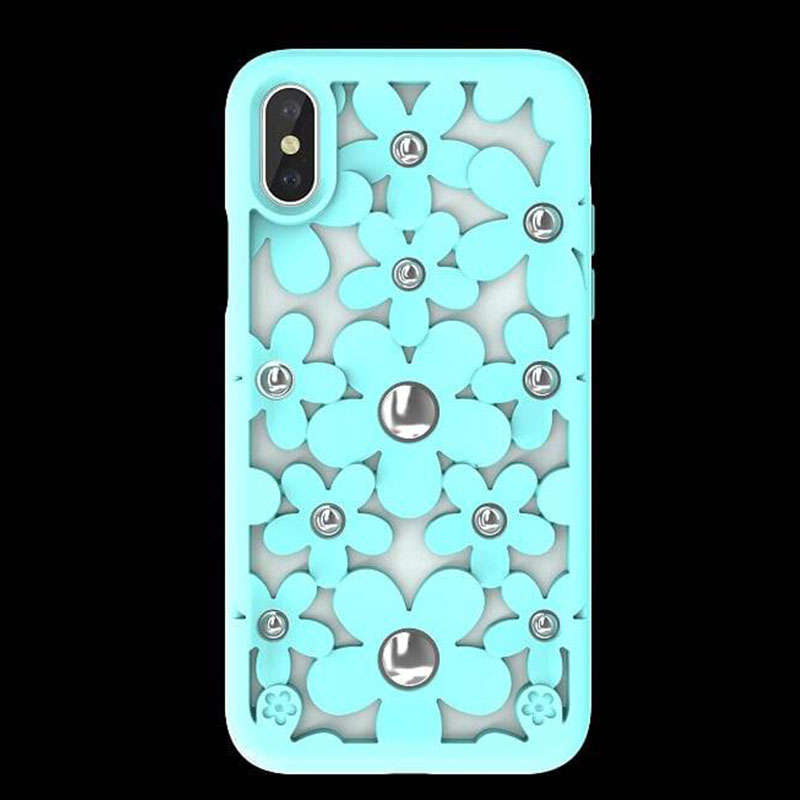 Switcheasy Fleur IPHONE XS MAX 鏤空花朵防摔保護殼 (薄荷綠)