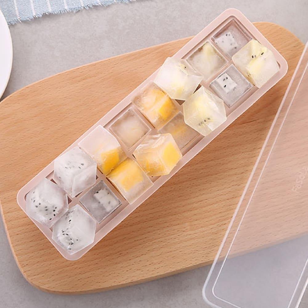 FaSoLa 食品用矽膠製冰盒 -藕粉色-方形(20格)