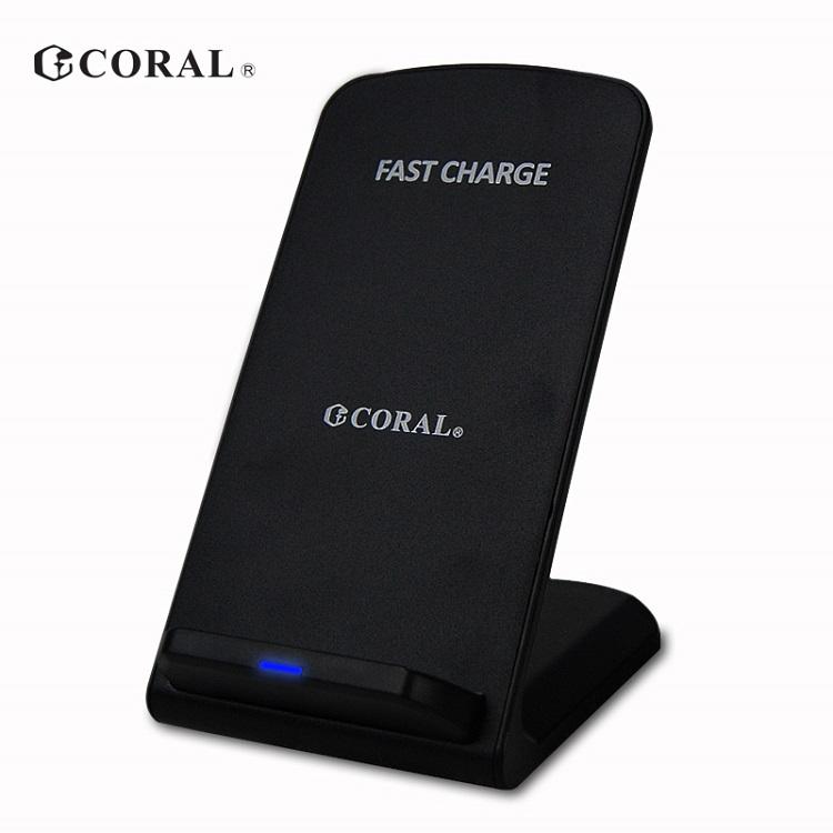 CORAL DQC1立式無線快充座【贈】IOS接收片