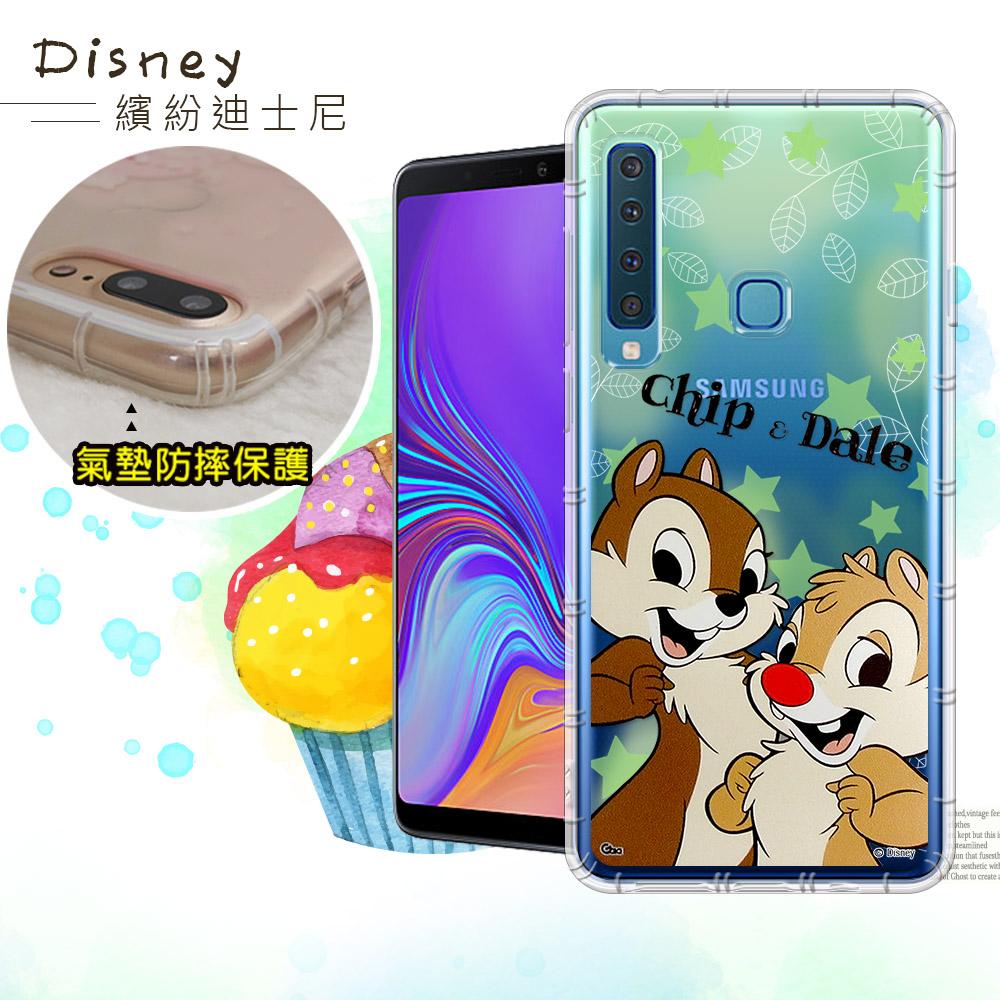 迪士尼授權正版 Samsung Galaxy A9 (2018) 繽紛空壓安全手機殼(奇奇蒂蒂)