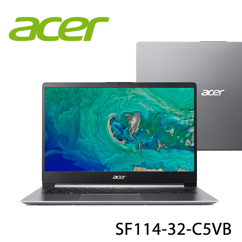 【ACER宏碁】SF114-32-C5VB 14吋 筆電(N4100/4G/128GB)-送美國OSTER 隨行杯果汁機 90th紀念款+無線滑鼠