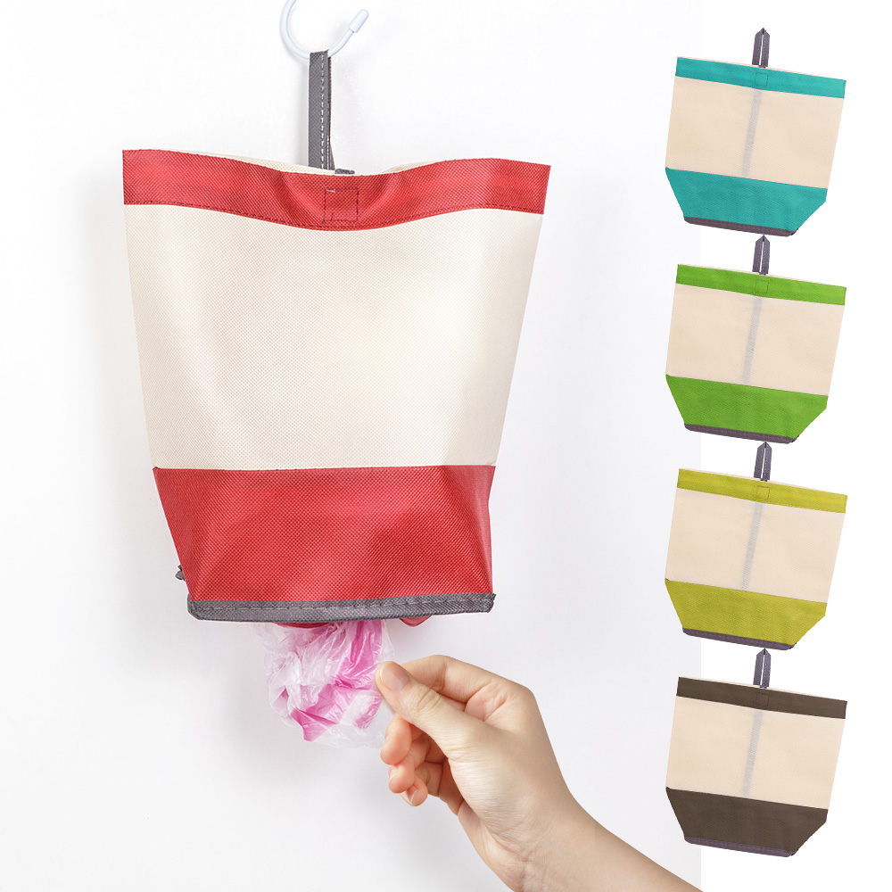 【日本丸辰】抽取式塑膠袋收納袋(5色隨機出貨)