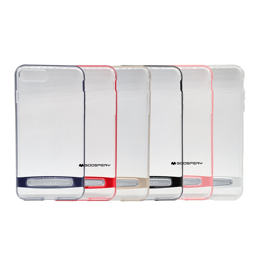 GOOSPERY Apple iPhone 8Plus /7 Plus Dream Bumper 透明支架殼(黑色)