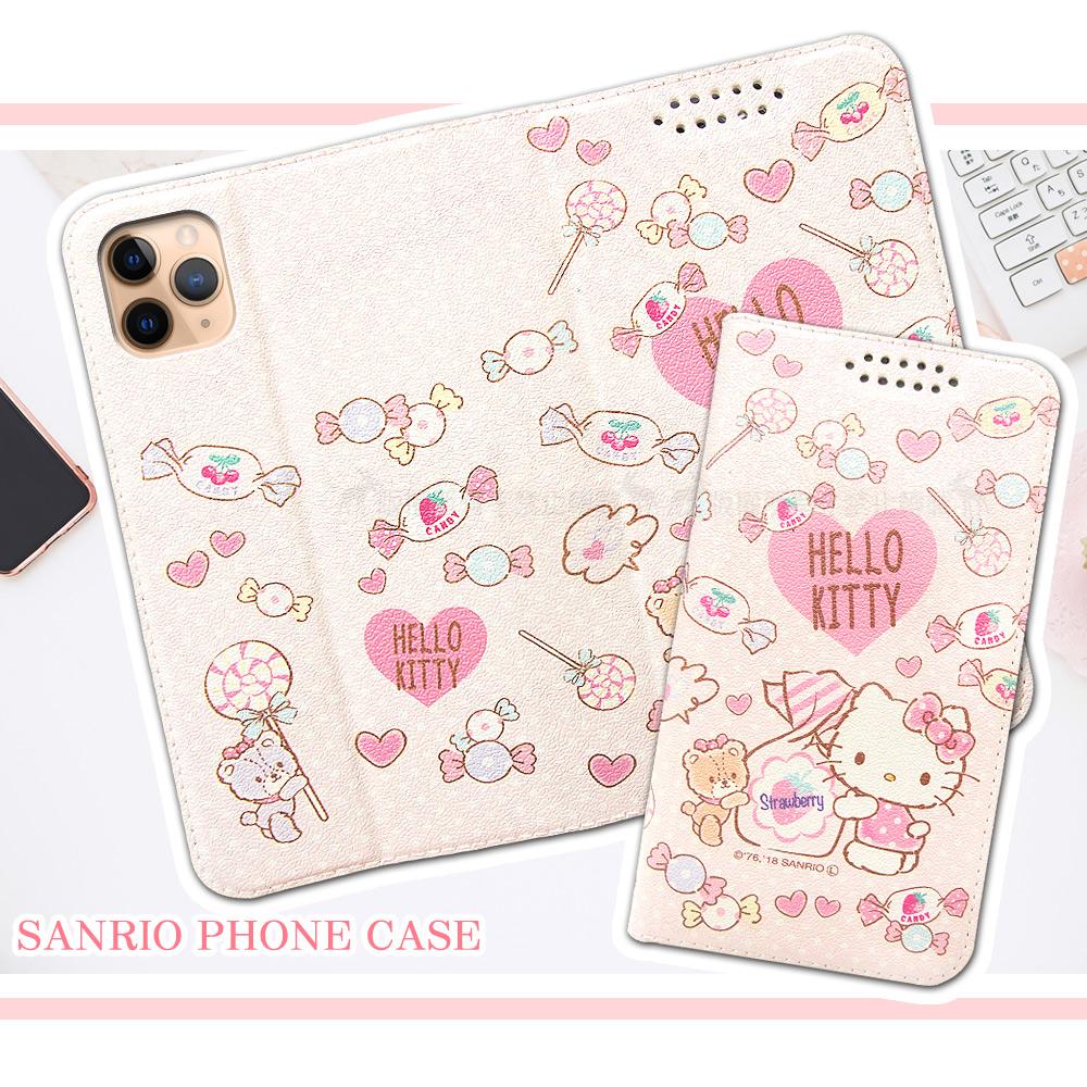 三麗鷗授權 Hello Kitty貓 iPhone 11 Pro Max 6.5吋 粉嫩系列彩繪磁力皮套(軟糖)