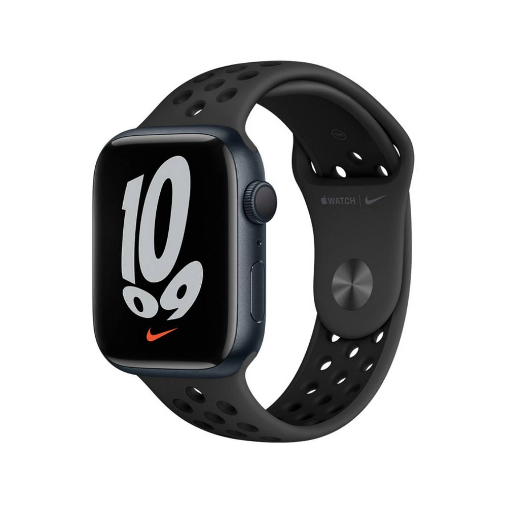Apple Watch S7 GPS 45mm 午夜鋁金屬-Anthracite 黑色 Nike 運動型錶帶【預約賣場】