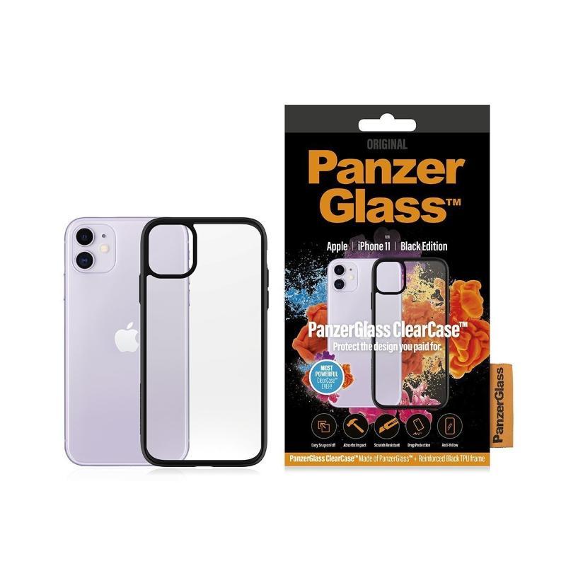 PG 保護組2.5D 玻璃保護貼+黑色邊框透殼iPhone 11