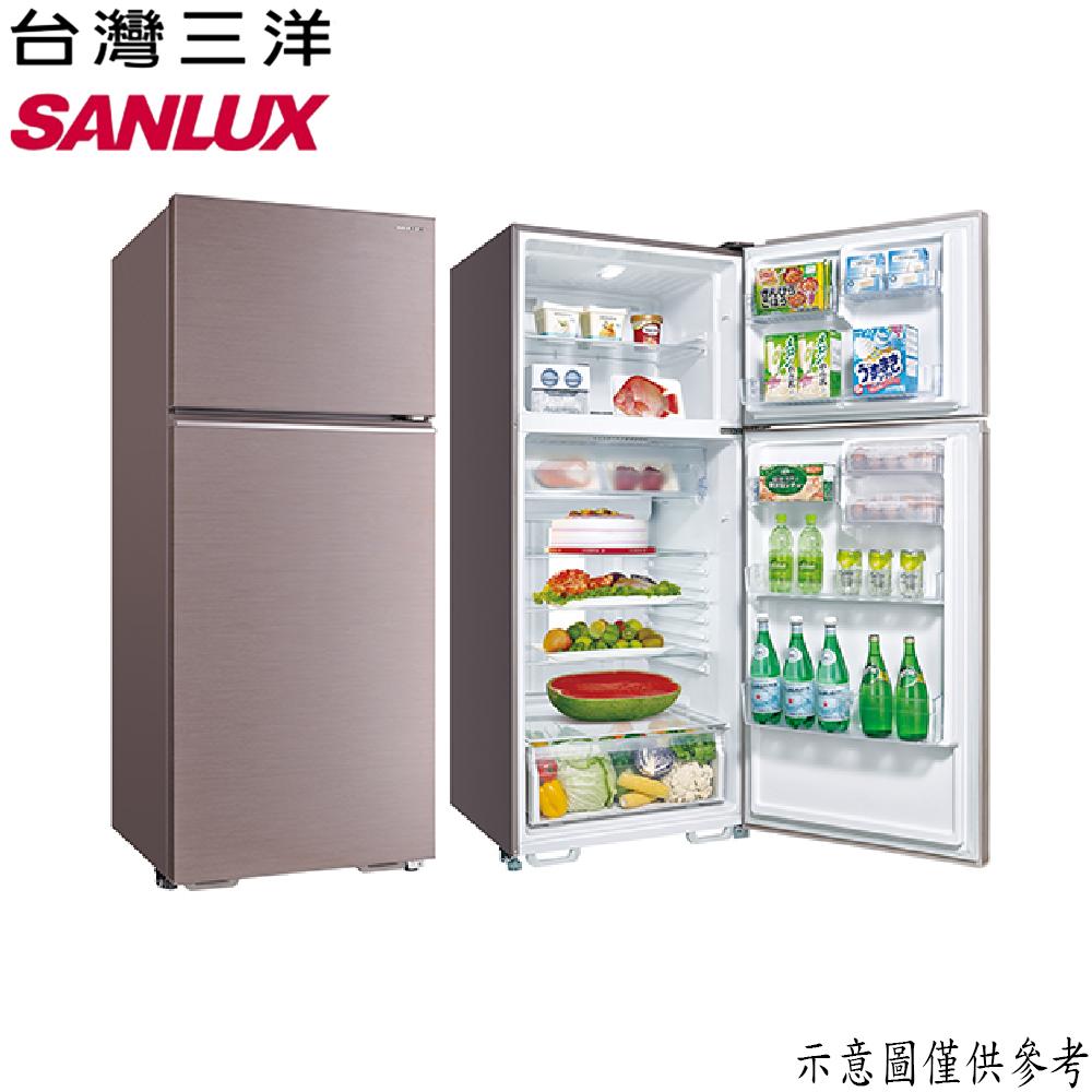 原廠好禮二選一【SANLUX台灣三洋】480L 定頻雙門冰箱 SR-C480B1B