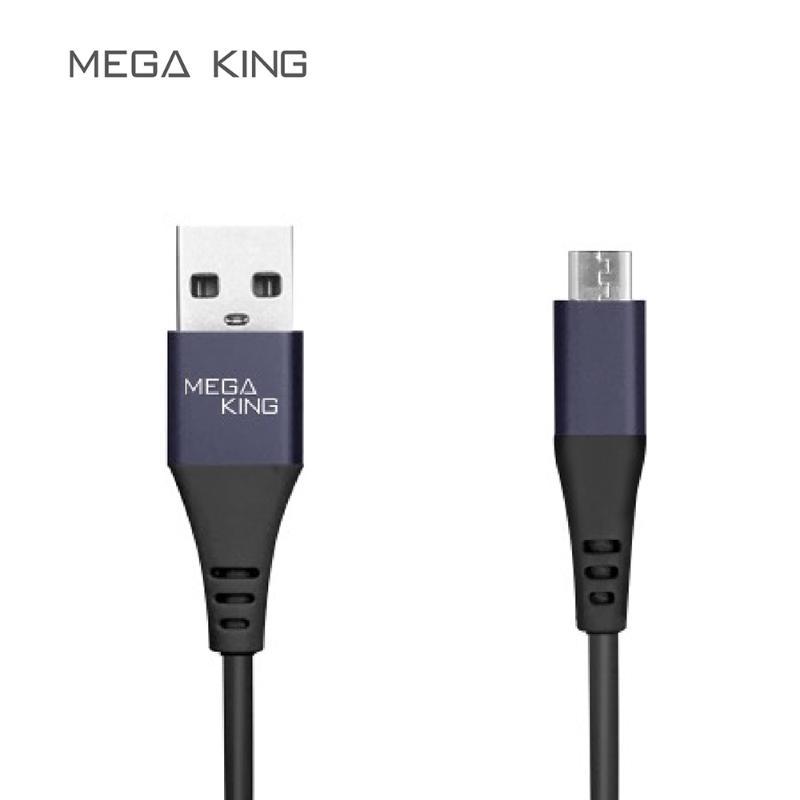 MEGA KING micro USB2.0 鋁合金充電傳輸線 黑