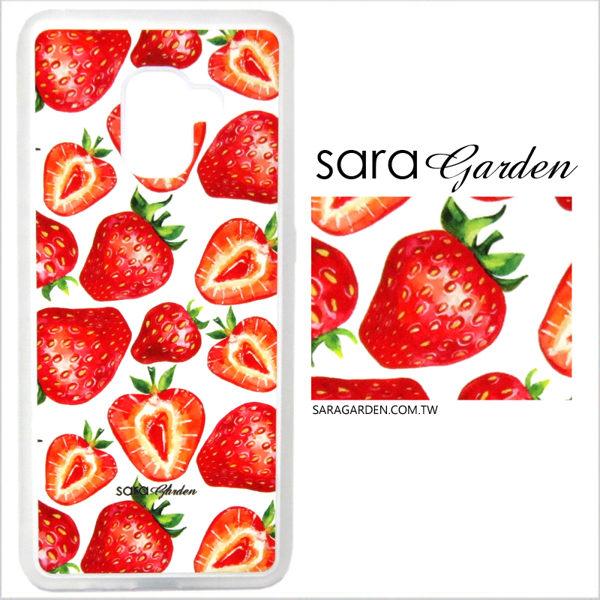 客製化 光盾 手機殼 Samsung 三星 Note8 透明防滑紋 保護套 軟邊 防摔殼 手繪草莓