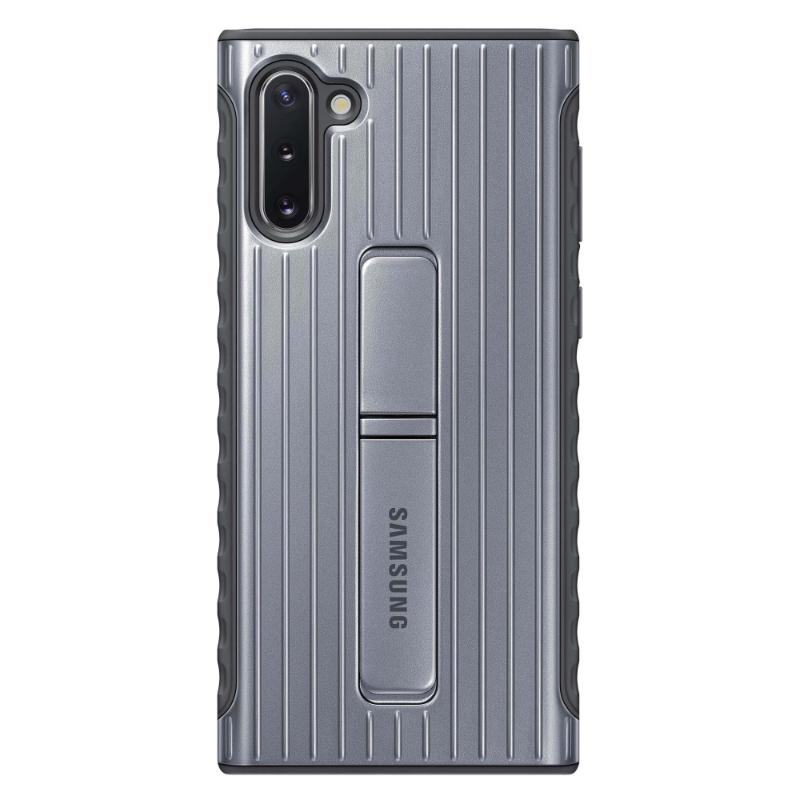 SAMSUNG Galaxy Note10 立架式保護皮套 銀