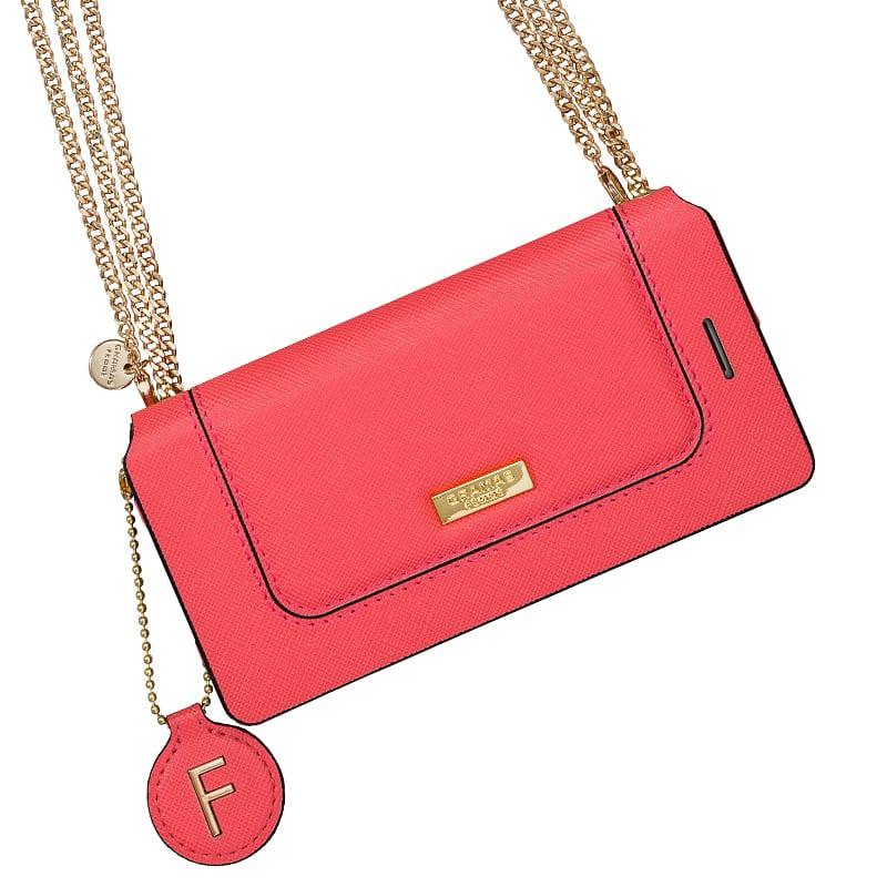 【GRAMAS】日本 iPhone 7/8 Plus 時尚職人仕女兩用手機包-限量款 粉紅色