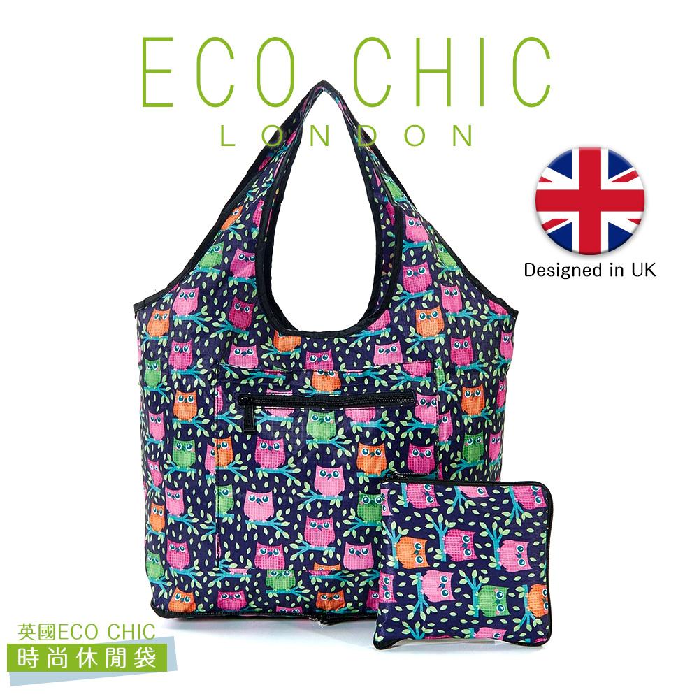 英國ECO CHIC時尚可折疊休閒袋-貓頭鷹