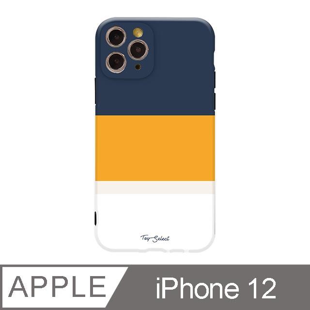 iPhone 12 6.1吋 法式悠然線條iPhone手機殼 孤寂晚霞