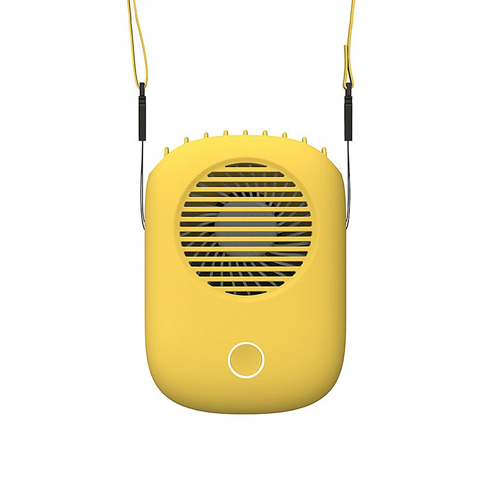 純色主義2.0 上吹式掛脖風扇-黃色