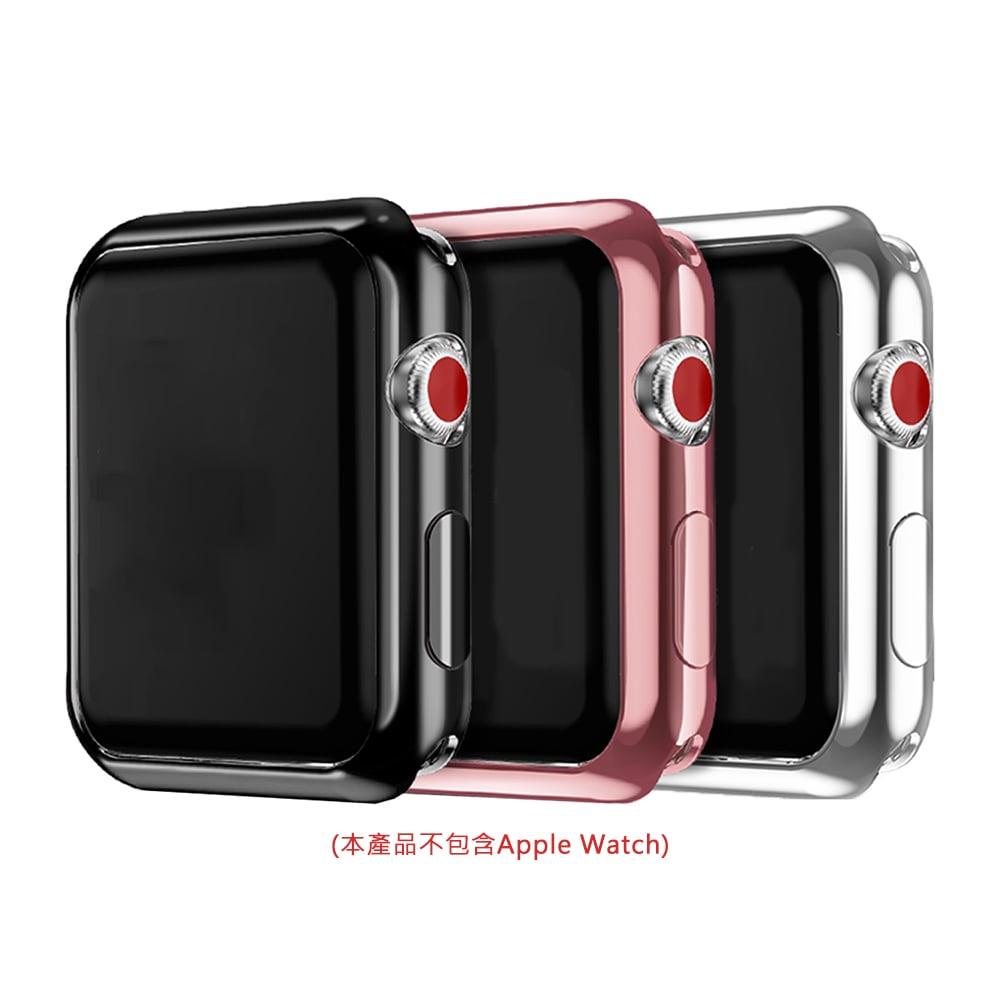 DUX DUCIS Apple Watch S2/S3 (42mm) 電鍍 TPU 套組(贈透明)(黑色)