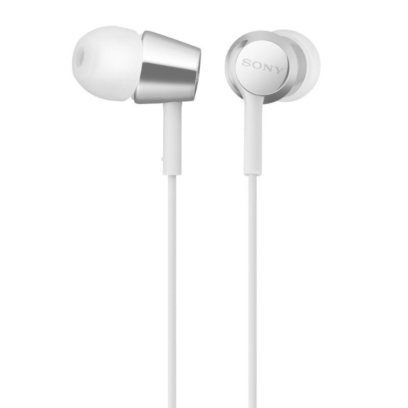 立體聲耳機SONY MDR-EX155AP 白