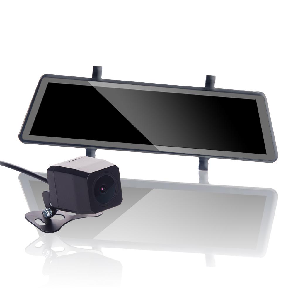 【鷹之眼】流媒體 全螢幕觸控式 前後鏡行車紀錄器(170度廣角 倒車切換 前後同步錄影 防眩鏡片)