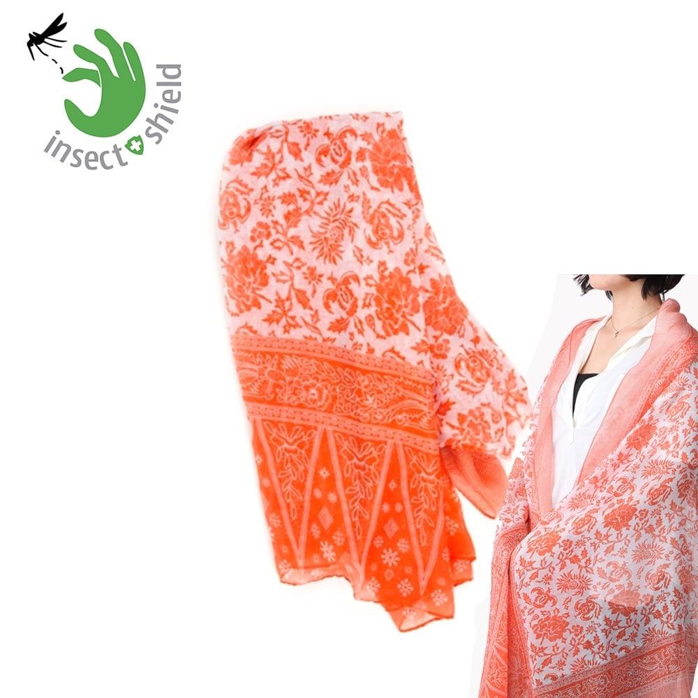 【美國insect shield】 多功能防蚊蟲圍巾披巾-橘色