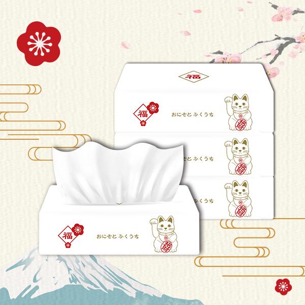 【漾】招財貓款抽取式衛生紙90抽x6包(1串購)
