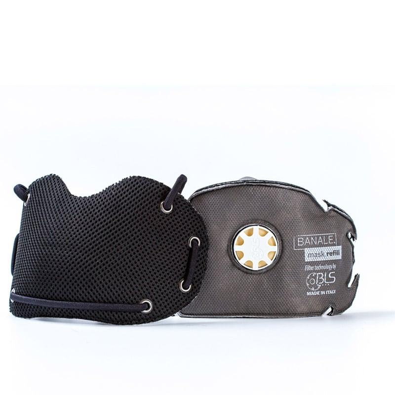 【義大利BANALE】機能防護過濾口罩(黑)