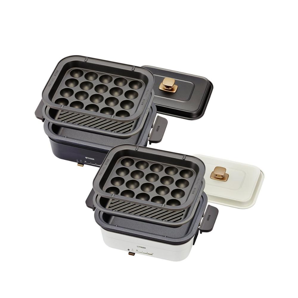 虎牌多功能方型電烤盤白色電火鍋CRL-A30R-WX
