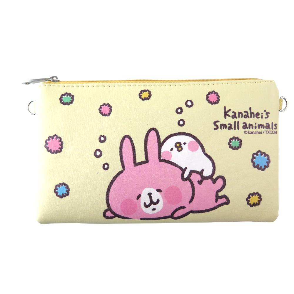 Kanahei卡娜赫拉皮質橫式手機袋/萬用包/手腕袋 白日夢