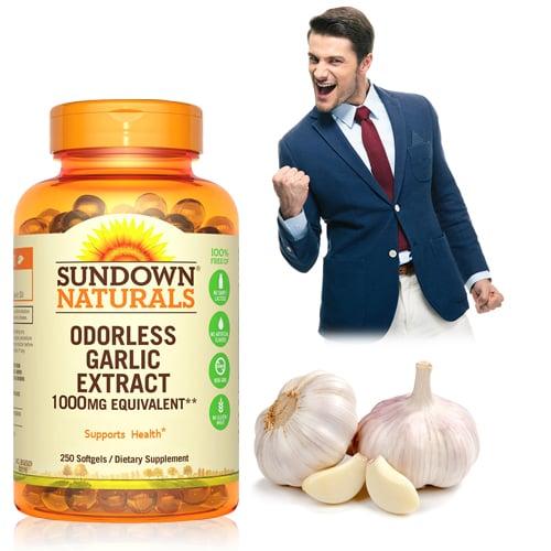 【超值優惠】Sundown日落恩賜 無味冷壓大蒜精軟膠囊(250粒/瓶)