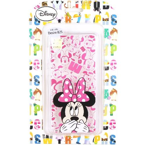 【Disney】HTC Desire 825 / D825u 摀嘴系列 彩繪透明保護軟套(米妮)