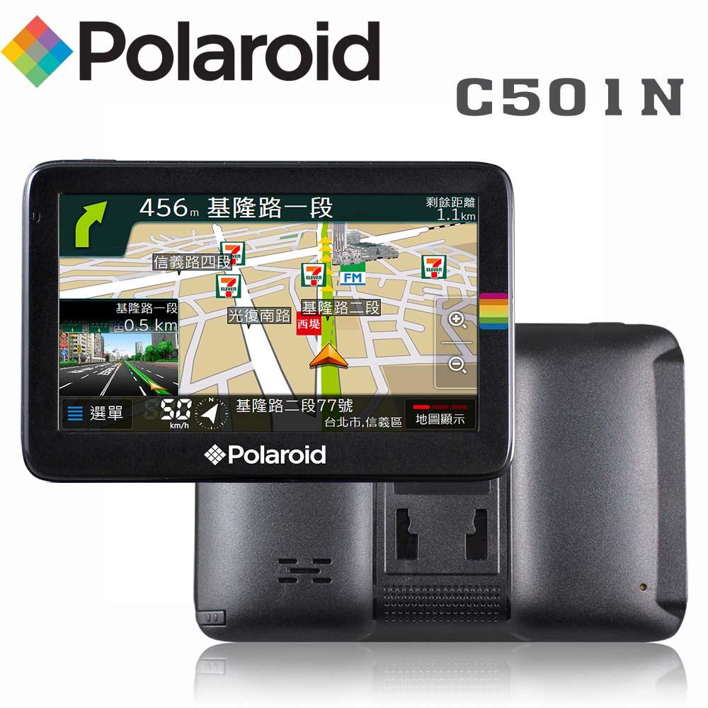 Polaroid 寶麗萊 C501N 5吋測速多媒體衛星導航機加贈遮陽板