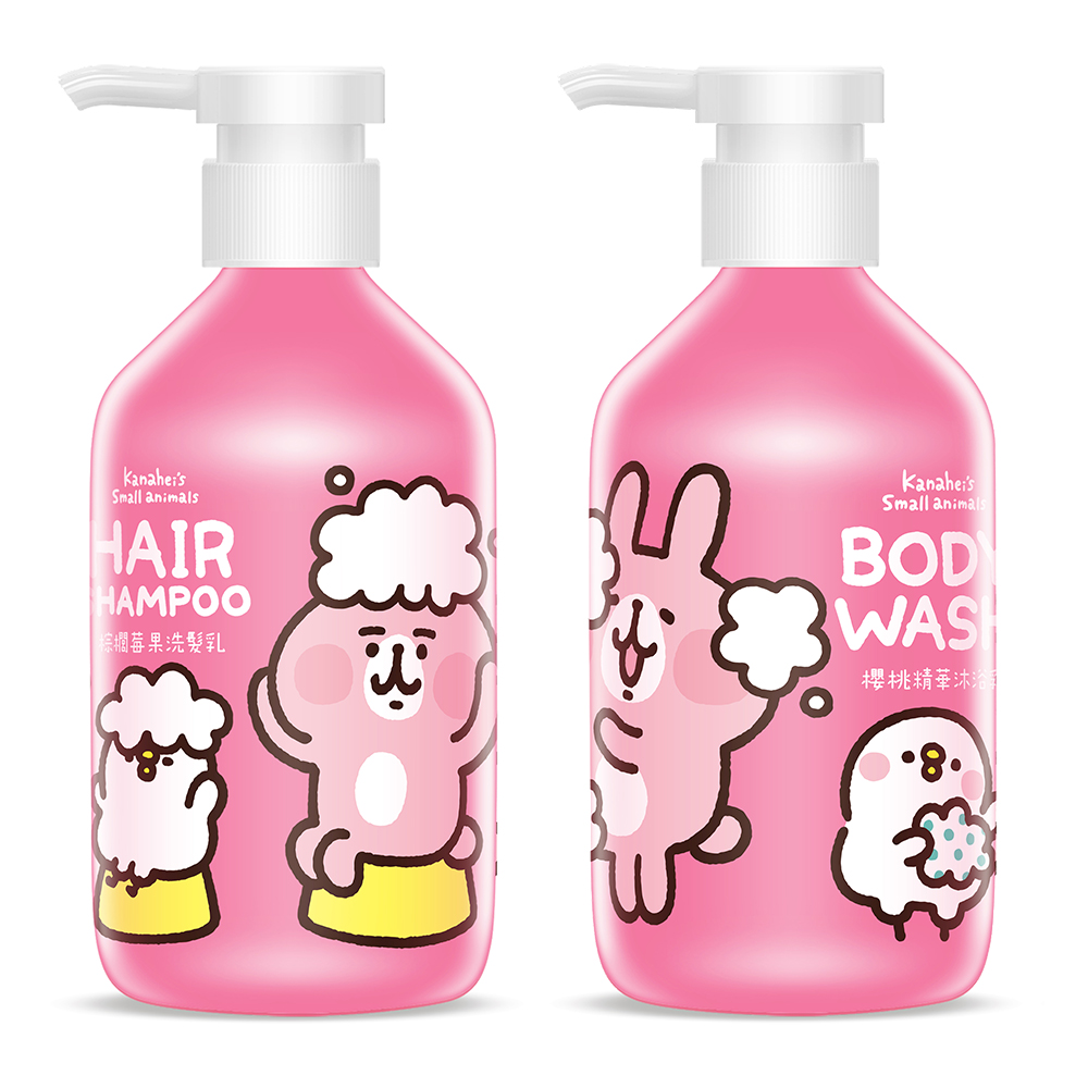 買一送一【HANABI】卡娜赫拉 洗沐系列 櫻桃精華沐浴乳-500ml+棕櫚莓果洗髮乳 500ml