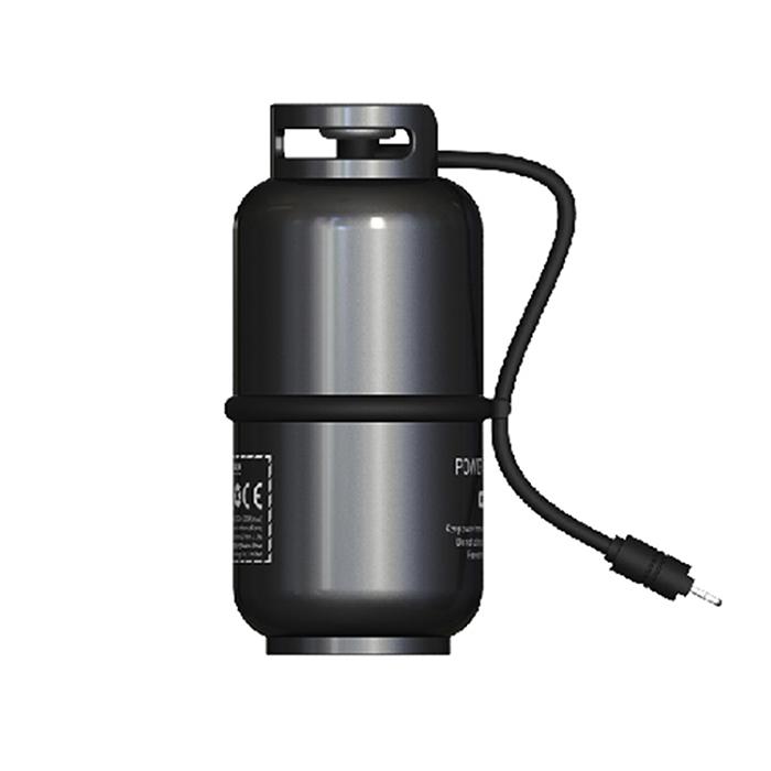 WK DESIGN 煤氣罐立體造型 10000mAh行動電源(附帶Lightning充電線)-銀色