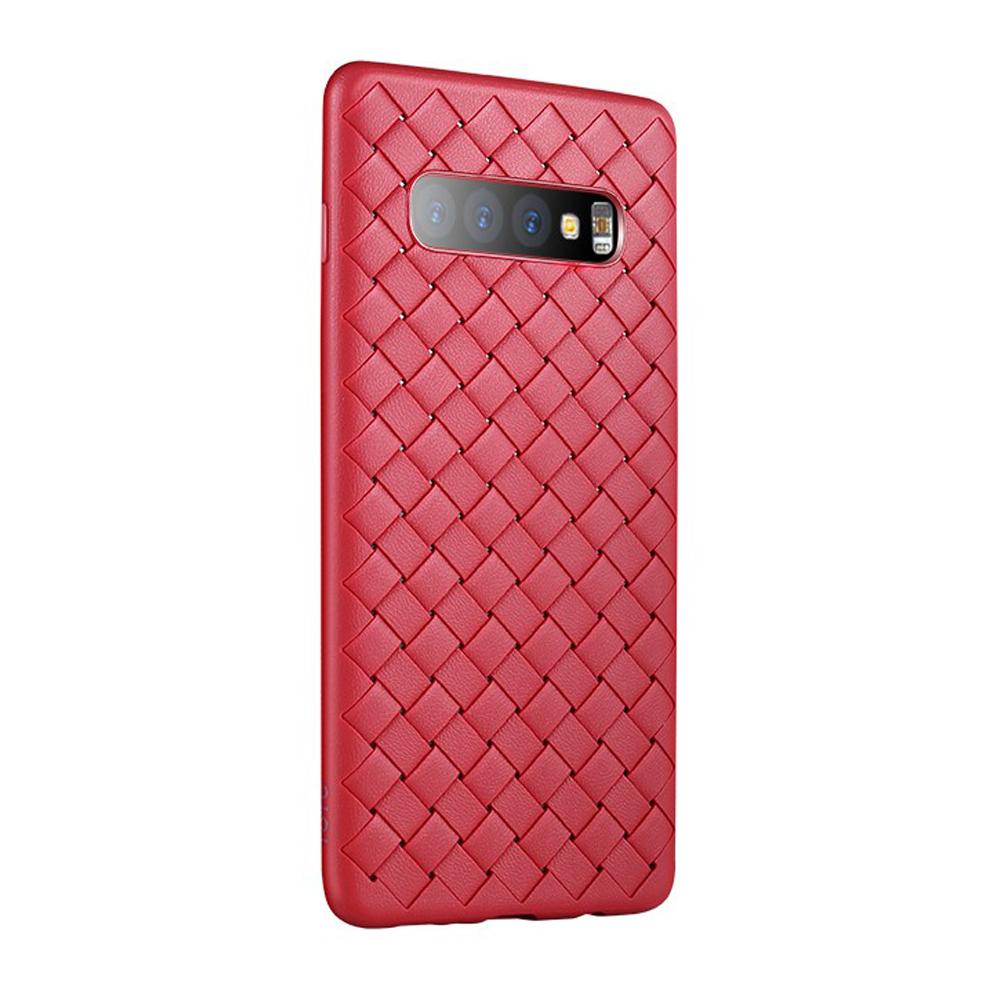 【TOTU台灣官方】S10Plus手機殼防摔殼 S10+ BV編織軟殼 柔系列 紅色