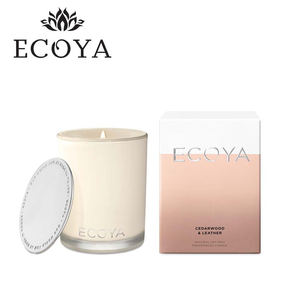 澳洲ECOYA 高雅香氛蠟燭-雪松皮革 400g