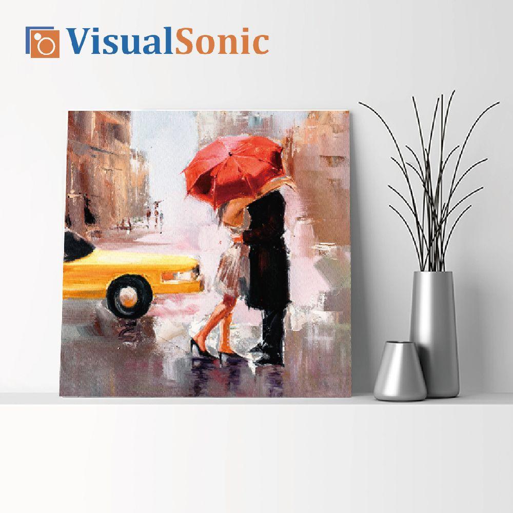 【VISUAL SONIC 夏潮 】超薄藍牙畫布音箱 86DancingInTheRain