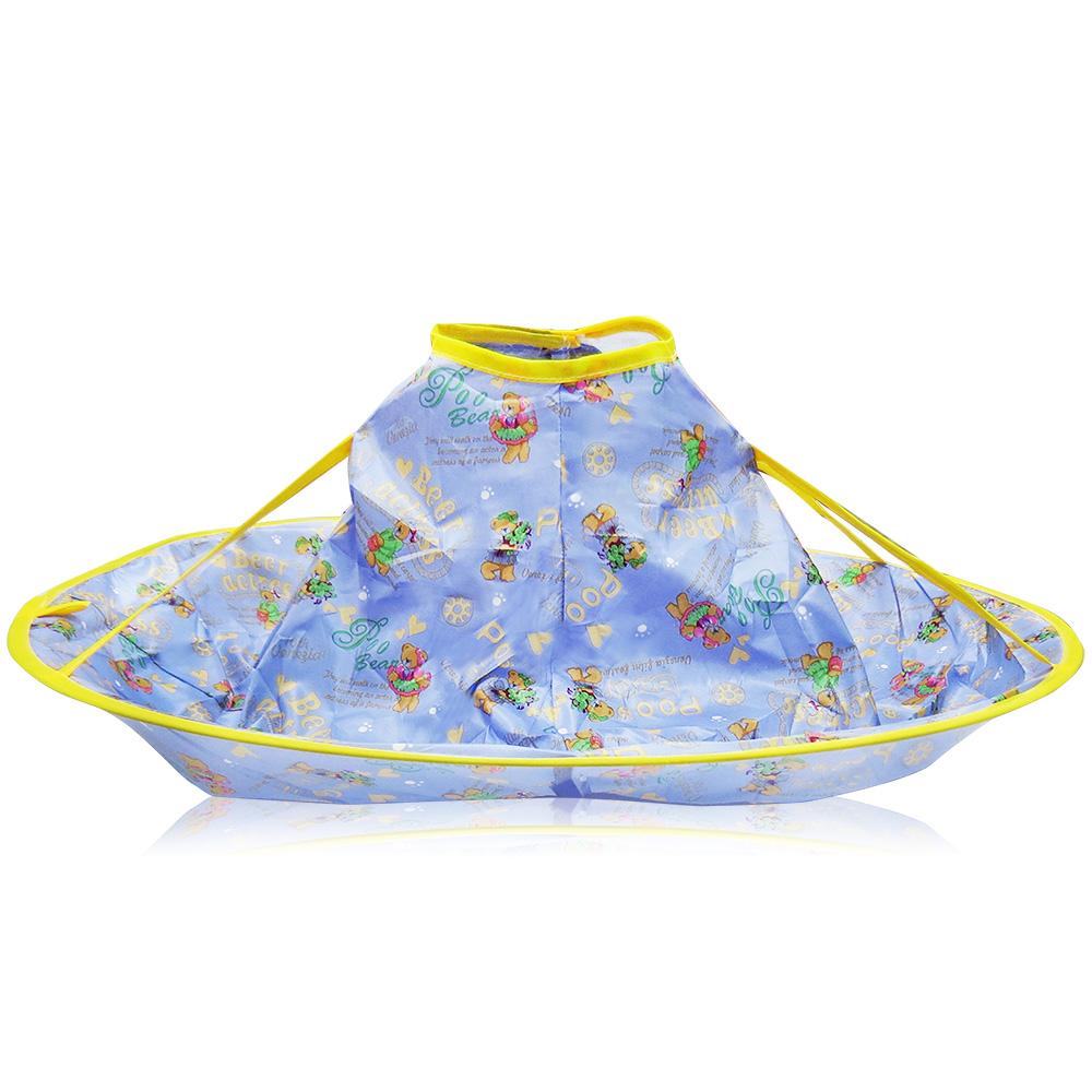 O'Pretty 歐沛媞 兒童剪髮立體斗篷(60X21cm)-紫色裙子熊