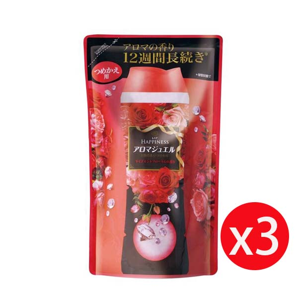 Lenor 蘭諾衣物芳香豆 455ML補充包 紅-晨曦玫瑰 *3包