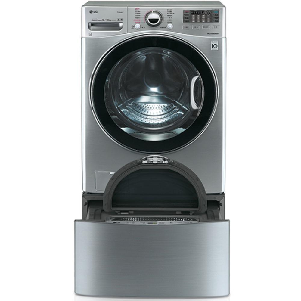 回函贈★送陶板屋餐券4張★LG樂金18+2.5公斤 雙能洗蒸洗脫烘洗衣機 WD-S18VCD+WT-D250HV