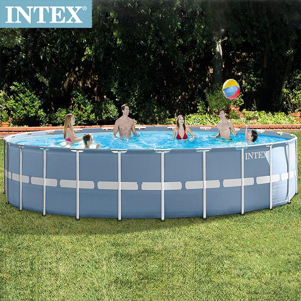 【INTEX】圓型框架速搭大型游泳池(附濾水泵) 732x132cm(47241L)適用6歲+ (26761)
