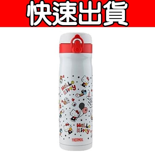 【THERMOS膳魔師 】不鏽鋼真空保溫瓶0.5L KITTY限定版JMY-501KT-WH