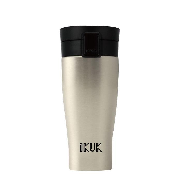 IKUK 艾可 陶瓷保溫杯大彈蓋520ml-迷霧銀 IKPV-520SS