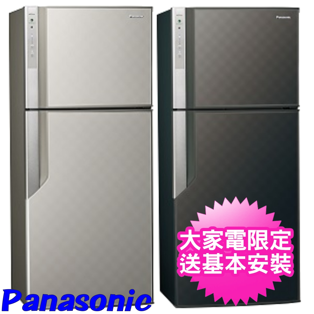 【Panasonic國際牌】422公升智慧節能變頻雙門冰箱 - 星空黑 NR-B429GV-K