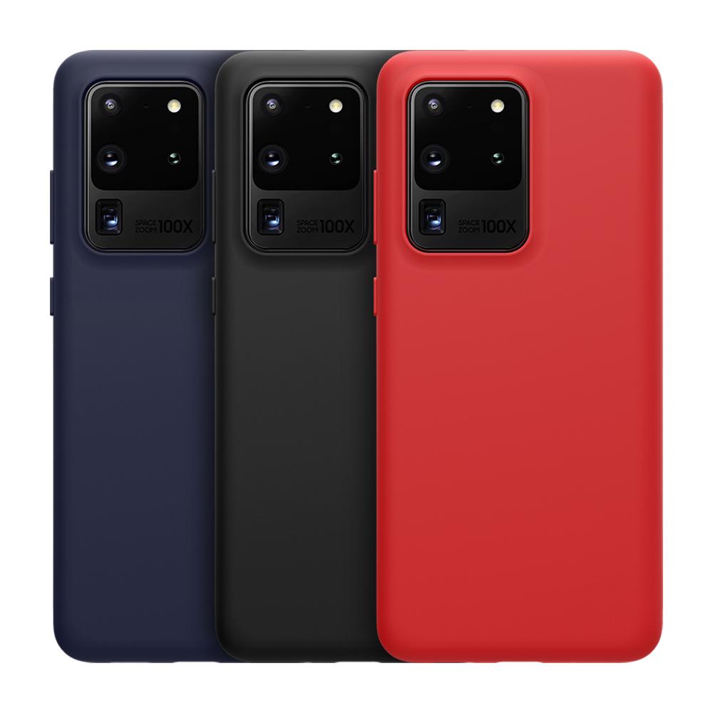 NILLKIN SAMSUNG Galaxy S20 Ultra 感系列液態矽膠殼(紅色)