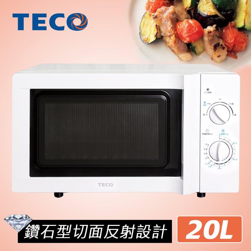 【TECO東元】20L無轉盤微波爐YM2005CB